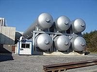 Tanques de helio.