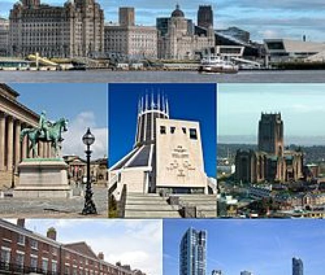 From Top Left Pier Head And The Mersey Ferry St Georges Hall And The