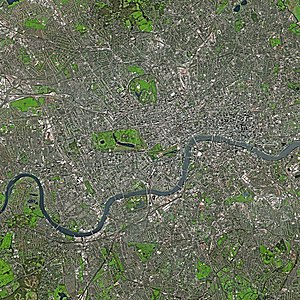 London by SPOT Satellite