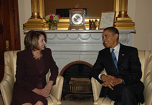 Speaker of the House Nancy Pelosi meeting with...