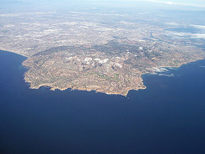 An aerial view of the Palos Verdes Peninsula. ...