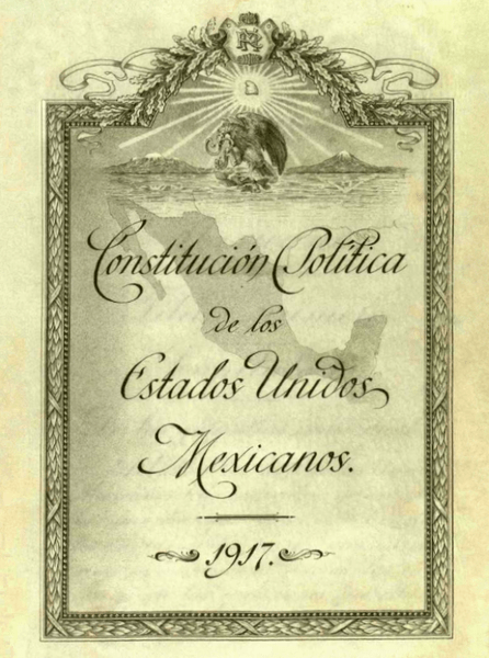 Archivo:Portada Interior Original de la Constitucion de 1917.png