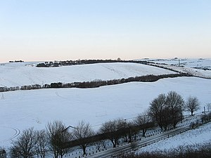 English: Waterhall Playing Fields Viewed from ...