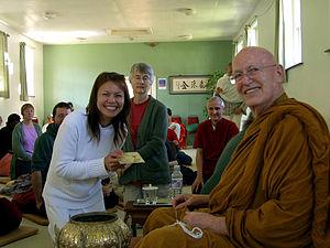 Ajahn Sumedho at Amaravati Buddhist Monastery, UK