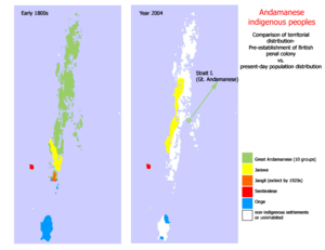 Comparative distributions of Andamanese indige...