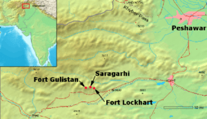 The map of the battle site