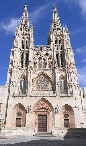 View of Burgos Cathedral (Spain)