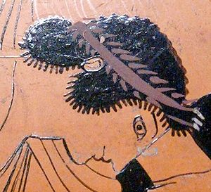 Peleus' face, detail from a scene representing...