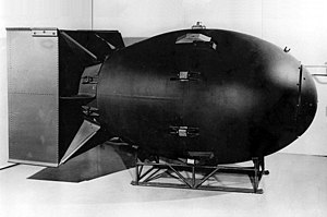One of the first nuclear bombs.