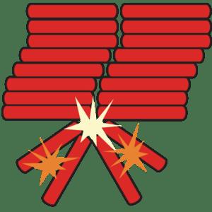 English: Firecrackers Bahasa Indonesia: Petasan