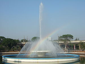 English: A fountain by the Istiqlal Mosque, Ja...