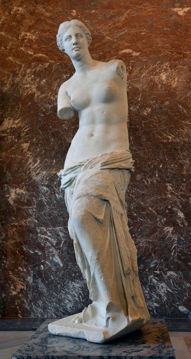 Front views of the Venus de Milo