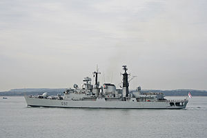 HMS Liverpool, a Royal Navy Type 42 Batch 2 ai...