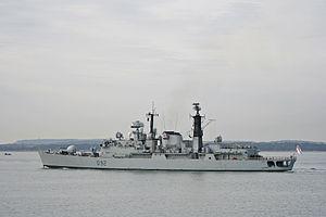 HMS Liverpool, a Royal Navy Type 42 Batch 2 ai...
