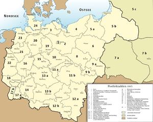 Postcode zones of Deutsche Reichspost, 1943 De...