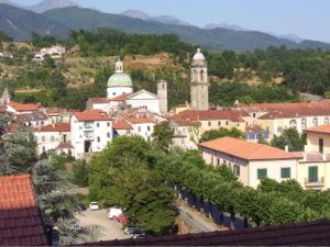 view of Pontremoli, Toscana, Italia