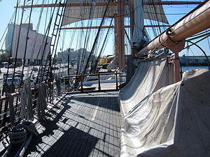 The poop deck of the Star of India, part of th...