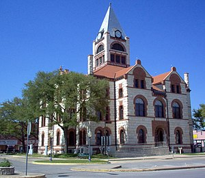 English: Erath County Courthouse, Stephenville...