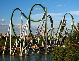 Image result for the hulk roller coaster