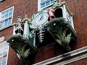 English: The Clock striking One at Fortnum and...