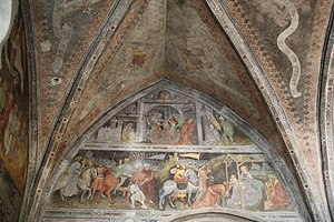 English: Sterzing, Holy Spirit church frescos,...