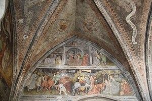 English: Sterzing, Holy Spirit church frescos,...