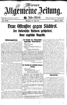 Wiener Allgemeine Zeitung  Wikipedia