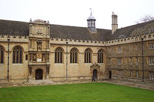Front quad at Wadham College, Oxford.