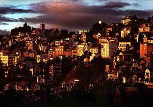 Antananarivo (Madagascar) at sunset