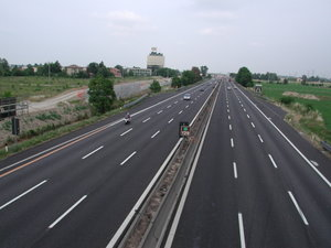 Autostrada del Sole near the city of Reggio Emilia