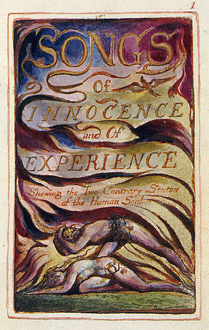 Blake's frontispiece for Songs of Innocence an...