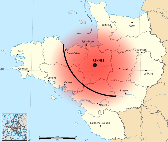 Original distribution of the galette saucisse in Bretagne.