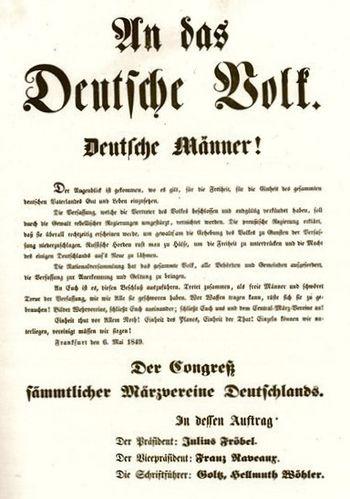 Aufruf des Centralmärzvereins vom 6. Mai 1848