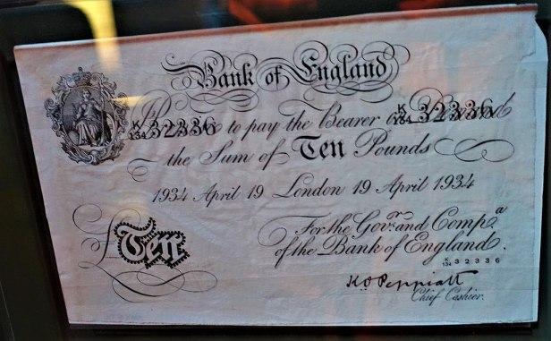 Forged British Bank Note from Operation Bernhard - www.joyofmuseums.com - International Spy Museum