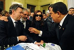 Español: Los Presidentes de Argentina, Brasil,...