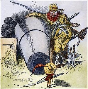 Political Caricature: 'Go Away, Little Man, an...