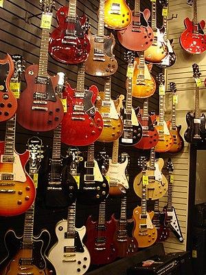 Guitar shop, Vancouver