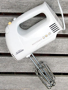 kitchen whisk electric mats target hand mixer wikipedia a handheld