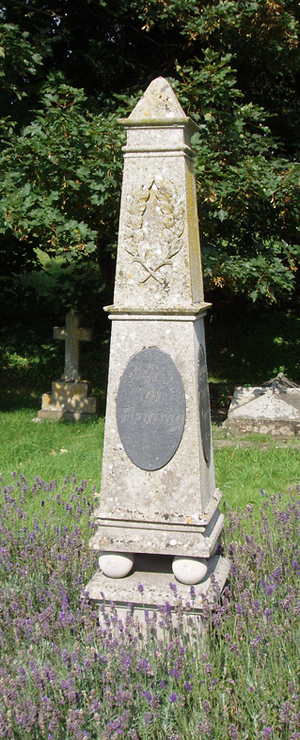 Grave and memorial to Ian Fleming at Sevenhamp...