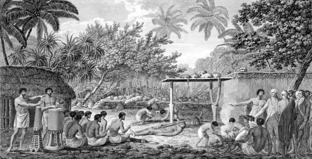 File:James Cook, English navigator, witnessing human sacrifice in Taihiti (Otaheite) c. 1773.jpg