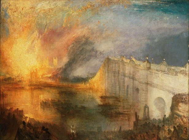 """The Burning of the Houses of Lords and Commons"" by J. M. W. Turner"