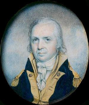 A painting of U.S. Army General Josiah Harmar,...