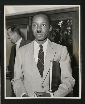 English: Julius Nyerere as leader of the Legis...