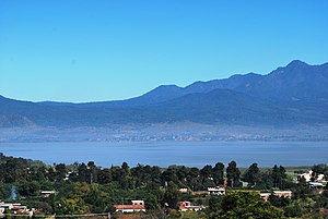 English: View of Lake Patzcuaro from the Tzint...