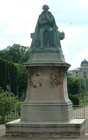 Statue of Jean-Baptiste Lamarck in the Jardin ...