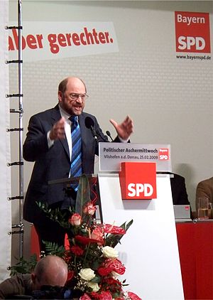 Deutsch: Martin Schulz beim Politischen Ascher...