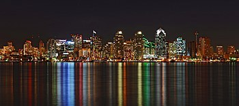 English: Night shot profiling the Colors and L...