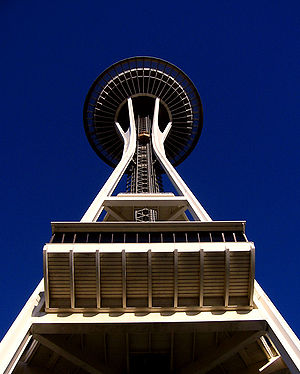 The Space Needle at Seattle Center in Seattle,...