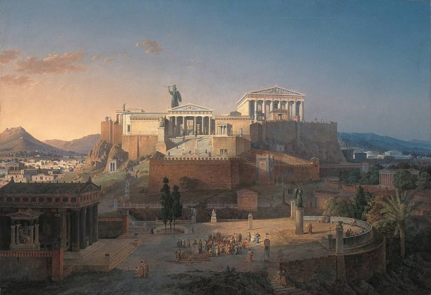 """""""The Acropolis at Athens"""" by Leo von Klenze"""