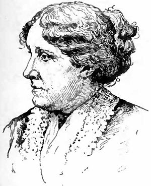 English: Portrait drawing of author Louisa May...